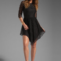 Alexis Asymmetric Lace Dress