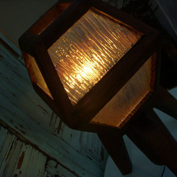 Handmade Wooden Lamp Arts and Crafts Movement by honeystreasures
