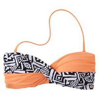 Junior's Tribal Print Bandeau Swim Top -Assorted Colors