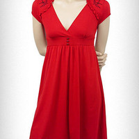 Cherry Red Sparrow Lush Dress | PLASTICLAND