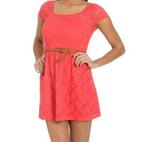 Crochet Lace Sweetheart Dress | Shop Way Out West at Wet Seal