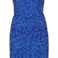 Sequin Bandeau Dress