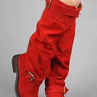 The Wishlist Shoe in Red Suede : Jeffrey Campbell : Karmaloop.com - Global Concrete Culture