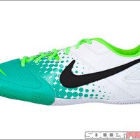 Nike5 Elastico Indoor Soccer Shoes - White with Electric Green