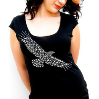 City Bird Swoop Scoop - American Apparel - Ladies Tshirt - small, medium, large, extra large