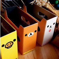 Rilakkuma San-x Relax Bear Cute DIY Small Storage Box Pen Holder 1pcs