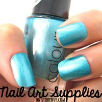 nailartsupplies | Liquid Platinum Blue - Bright Blue Molten Metal Nail Polish 9.8 ml | Online Store Powered by Storenvy