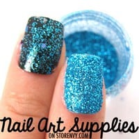 nailartsupplies | Classic Turquoise - Bright Blue Raw Fine Nail Glitter Mix 3.5 Grams | Online Store Powered by Storenvy