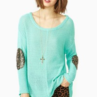 Sequin Patch Knit - Mint