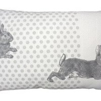 rabbits linen union cushion LULR01