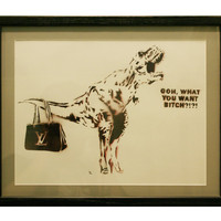 FRAMED ORIGINAL TRANNYSAURUS 1 Original Painting 12 x 15 Framed Stencil Spray Paint Pop Art Drag Queen Original Artwork