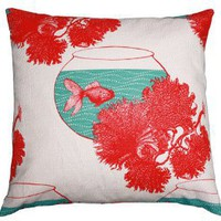 fish linen cushion LC0235-55