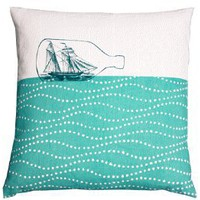 ship in a bottle cushion LC15-55