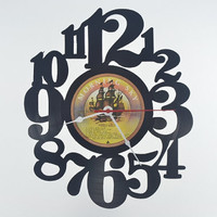 Unique Wall Clock handmade vinyl record album (artist is Fools Gold)