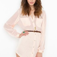 Blushing Shirtdress in What's New at Nasty Gal