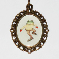Skating Frog Necklace