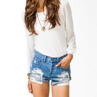 Chiffon-Sleeve Knit Top | FOREVER 21 - 2031557690