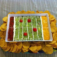 deliciousness / Super Bowl Sunday- Guacamole Football field