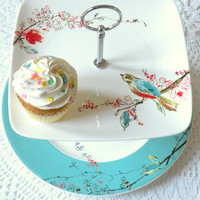 Square Lenox Chirp Plates in Lovebirds White &amp; by highteaforalice