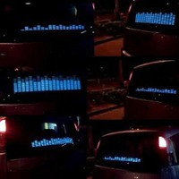 Amazon.com: Koolertron Sound music Activated Car Stickers Equalizer Glow Blue Light 45*11cm: Car Electronics