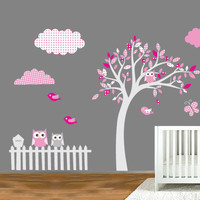 Nursery, kids Decals - Tree Owl XL pack for walls