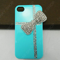Fashion case Pearl bows  gifts  iphone 5 case iphone 4 case iphone 4s case iphone 3 case