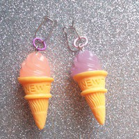 Sweet Pastel Ice Cream Earrings from On Secret Wings