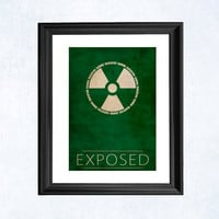 Exposed print - Hulk minimal illustration