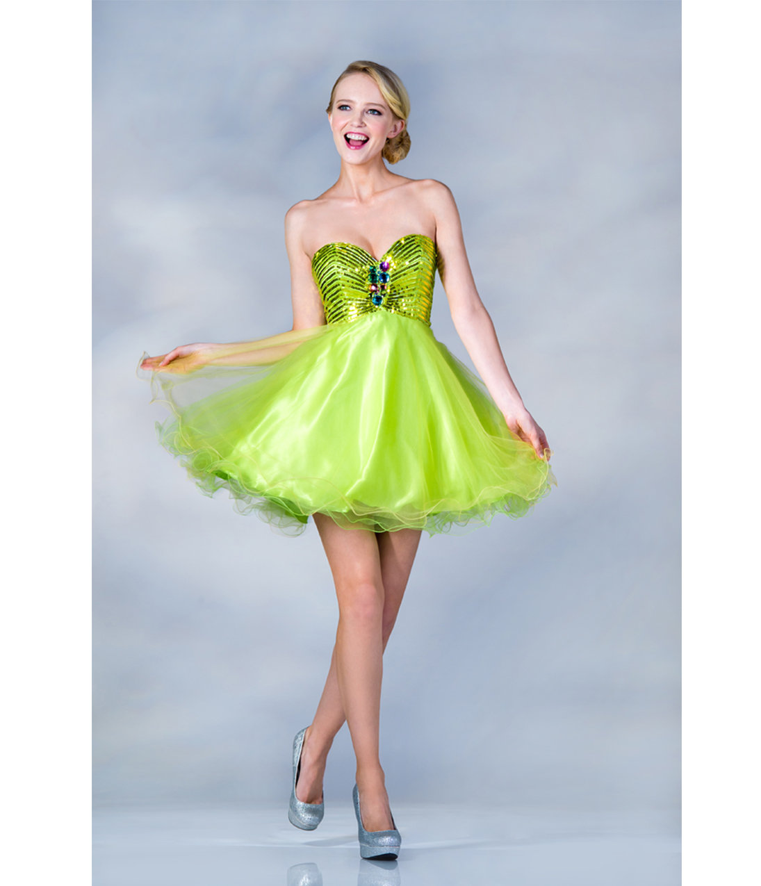 Yellow And Green Prom Dresses 71