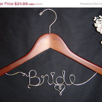 On Sale 4.00 SHIPPING USA, Personalized Custom Bridal Hanger, Brides Hanger, Bride, Name Hanger, Wedding Hanger, Personalized Bridal Gift