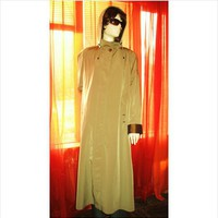 GALLERY Hooded Trench Raincoat W Double Lining Brown Size 12 Very Long on eBid United States