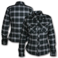 Lucky 13 Die Young Women&#x27;s Flannel Shirt - Blouses &amp; Button Ups - Women&#x27;s - Grease, Gas and Glory