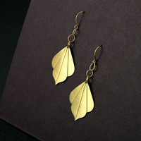 Gold Art Deco Earrings by Atelier Yumi