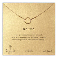 Dogeared 'Karma' Reminder Pendant Necklace | Nordstrom