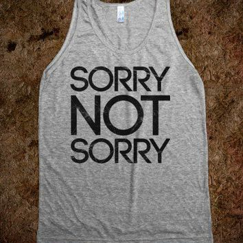 Sorry Not Sorry-Unisex Athletic Grey Tank