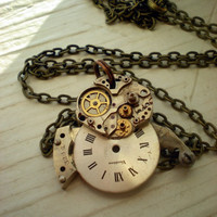 Steampunk Necklace Clockwork Owl Owlcutus by MaddDoggofTomorrow