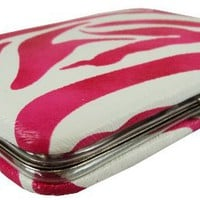 Zebra Print Mini Flat Credit Card Wallet Case in Choice of Colors - Great Stocking Stuffer!