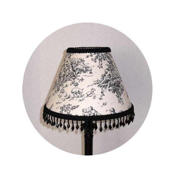 Black Central Park Toile fabric ~ Lamp Shade by ToileChicBoutique