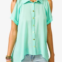 Sheer High-Low Shirt | FOREVER 21 - 2000029565