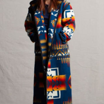 Reversible Long Coat, Chief Joseph Pendleton ® Wool Fabric Blanket Coat