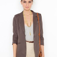 Beach Club Blazer - Mocha in  Clothes Outerwear at Nasty Gal