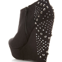 Billionnaire Black Wedge Boot - Shoes - Miss Selfridge