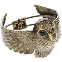 Asos Chubby Owl Clamp Bangle - Polyvore