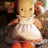 Doll Fisher Price Lapsitter 200 Blonde Pigtails Red by junquegypsy