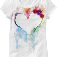 Girls Graphic-Applique Tees