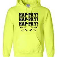 Adult Hap-pay Hap-pay Hap-pay Happy Happy Happy Duck Dynasty Duck Hunting Hooded Sweatshirt Hoodie