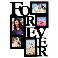 5 Opening FOREVER Photo Picture Frame - 12AD001-B ADECO - Wall Art,Wall Collage, Holds Two 4x6, Two