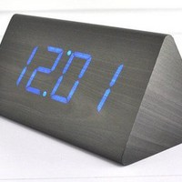 Desktop Digital LED Wooden Alarm Clock
