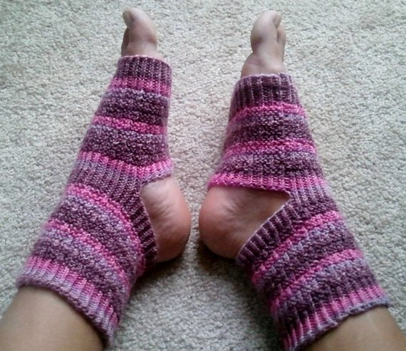 Yoga/Pedicure Socks in Pink Sugar by megk8199 on Etsy