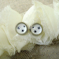 Harry Potter Silver Star Earrings